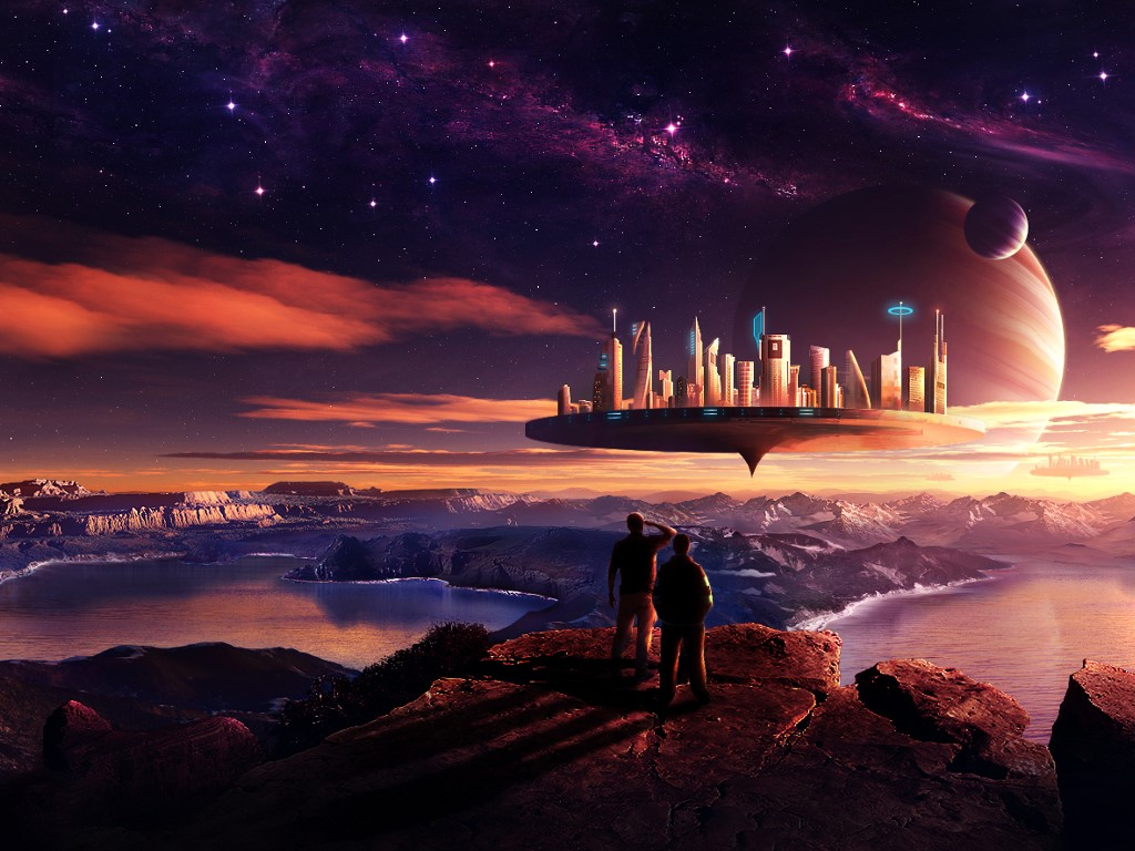 Fantasy Wallpaper: Floating City
