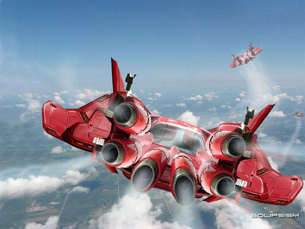 Fantasy Wallpaper: Flying Car