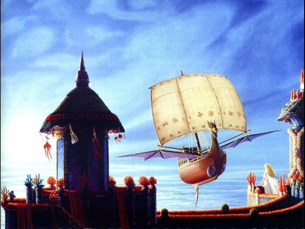Fantasy Wallpaper: Flying Galeon