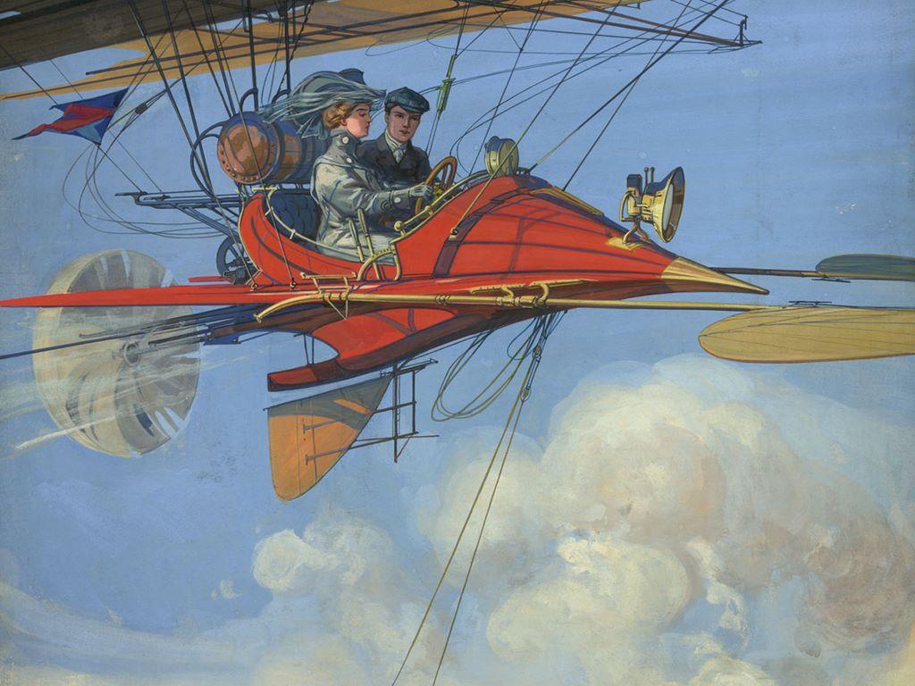Fantasy Wallpaper: Flying Machine