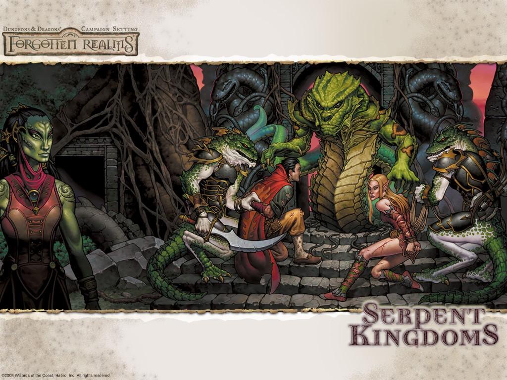 Fantasy Wallpaper: Forgotten Realms - Serpent Kingdoms