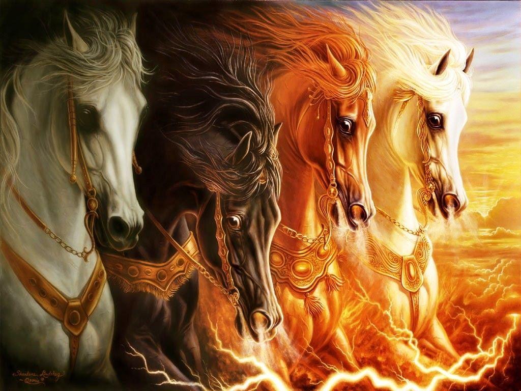 Fantasy Wallpaper: Four Horses