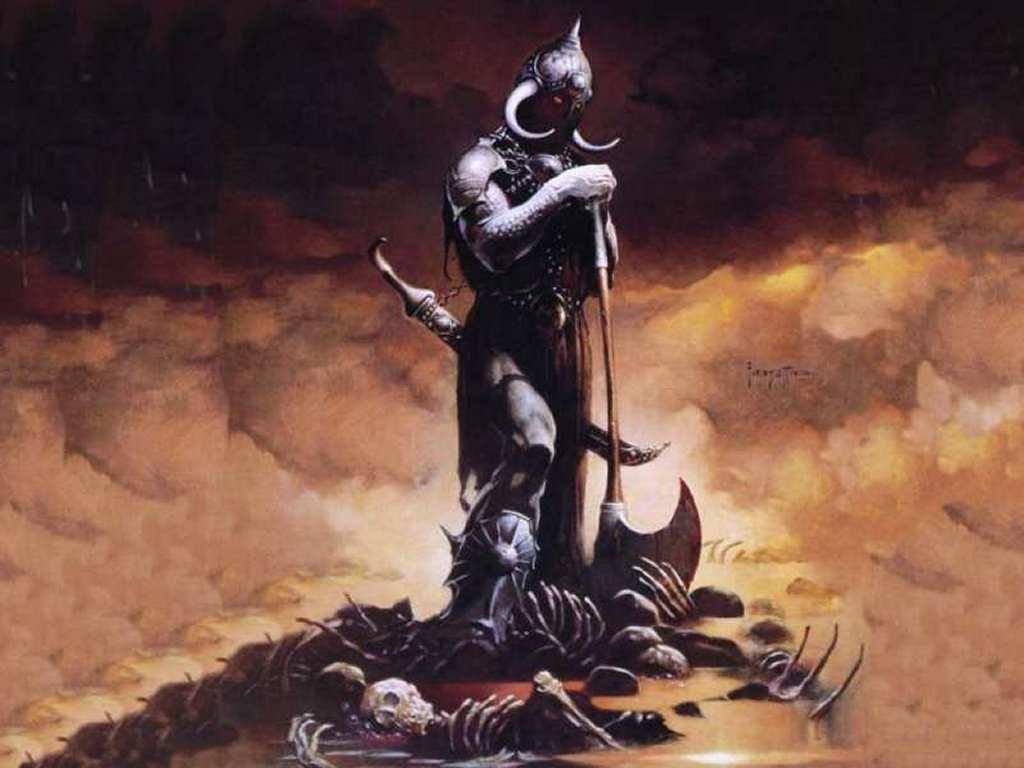 Fantasy Wallpaper: Frank Frazetta - Death Dealer