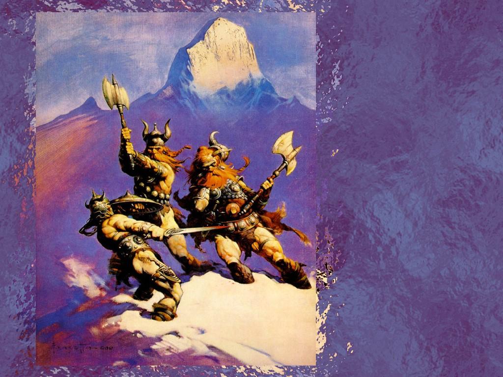 Fantasy Wallpaper: Frank Frazetta - Fight