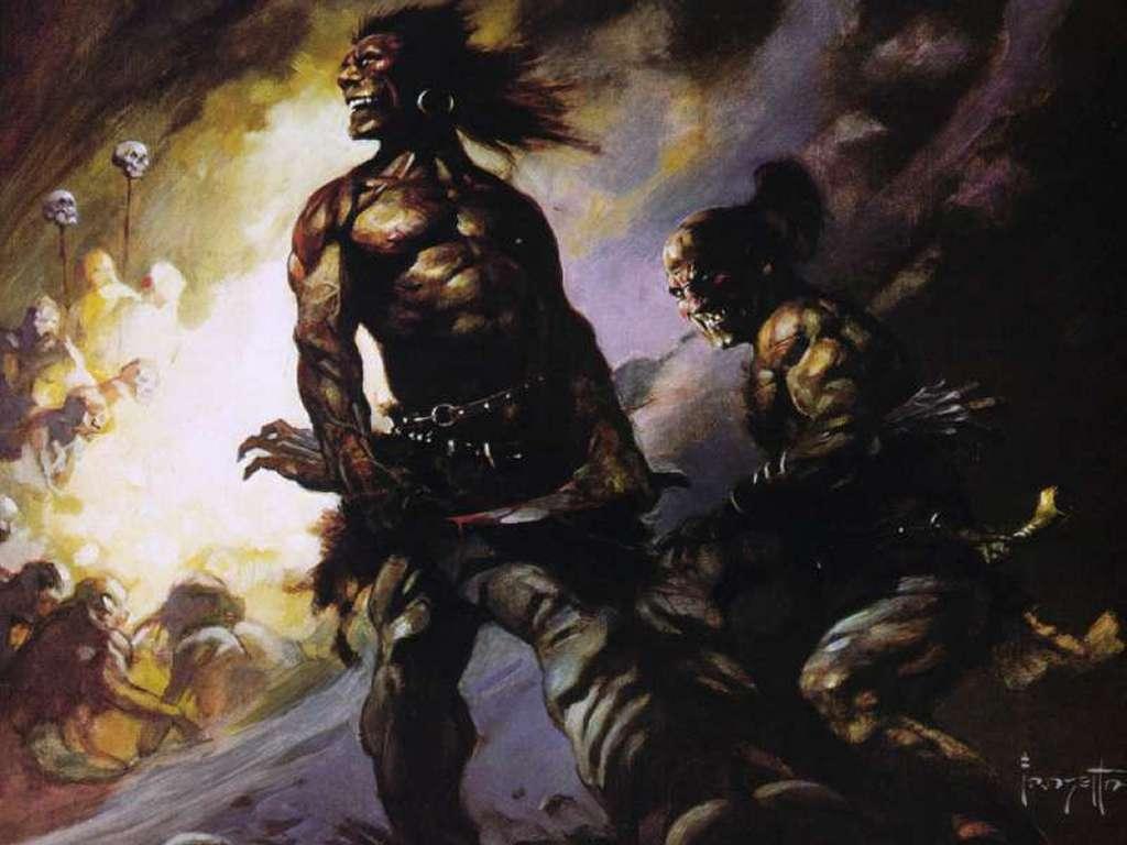 Fantasy Wallpaper: Frank Frazetta - Flesh Eaters