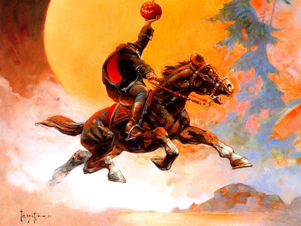 Fantasy Wallpaper: Frank Frazetta - Headless Horseman
