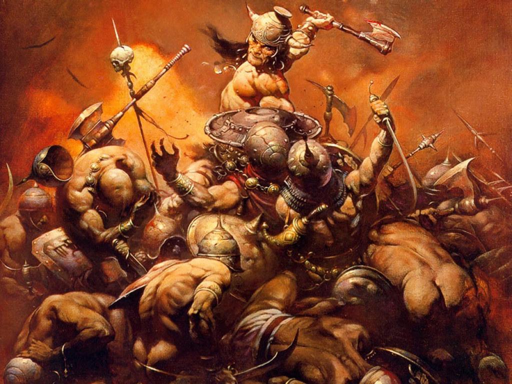 Fantasy Wallpaper: Frank Frazetta - The Destroyer