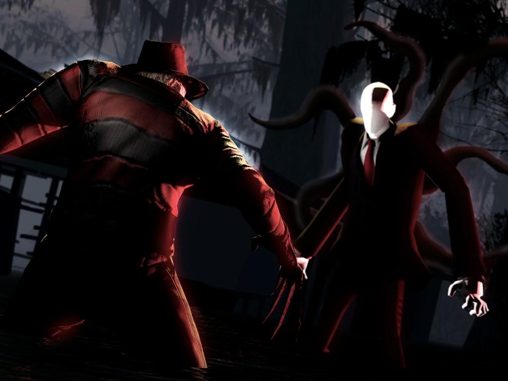 Fantasy Wallpaper: Freddy Krueger vs Slenderman
