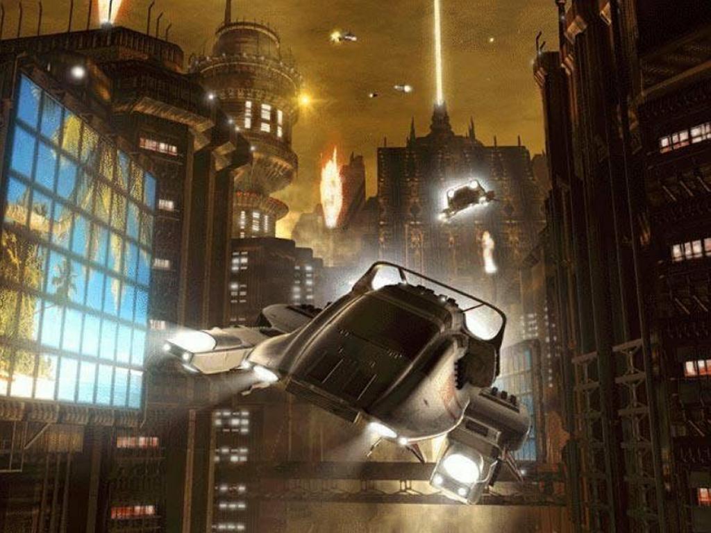 Papel de Parede Gratuito de Fantasia : Cidade do Futuro
