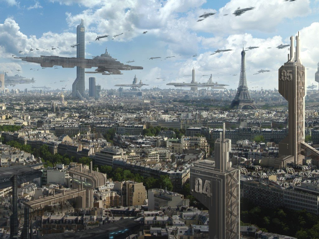 Fantasy Wallpaper: Future Megalopolis