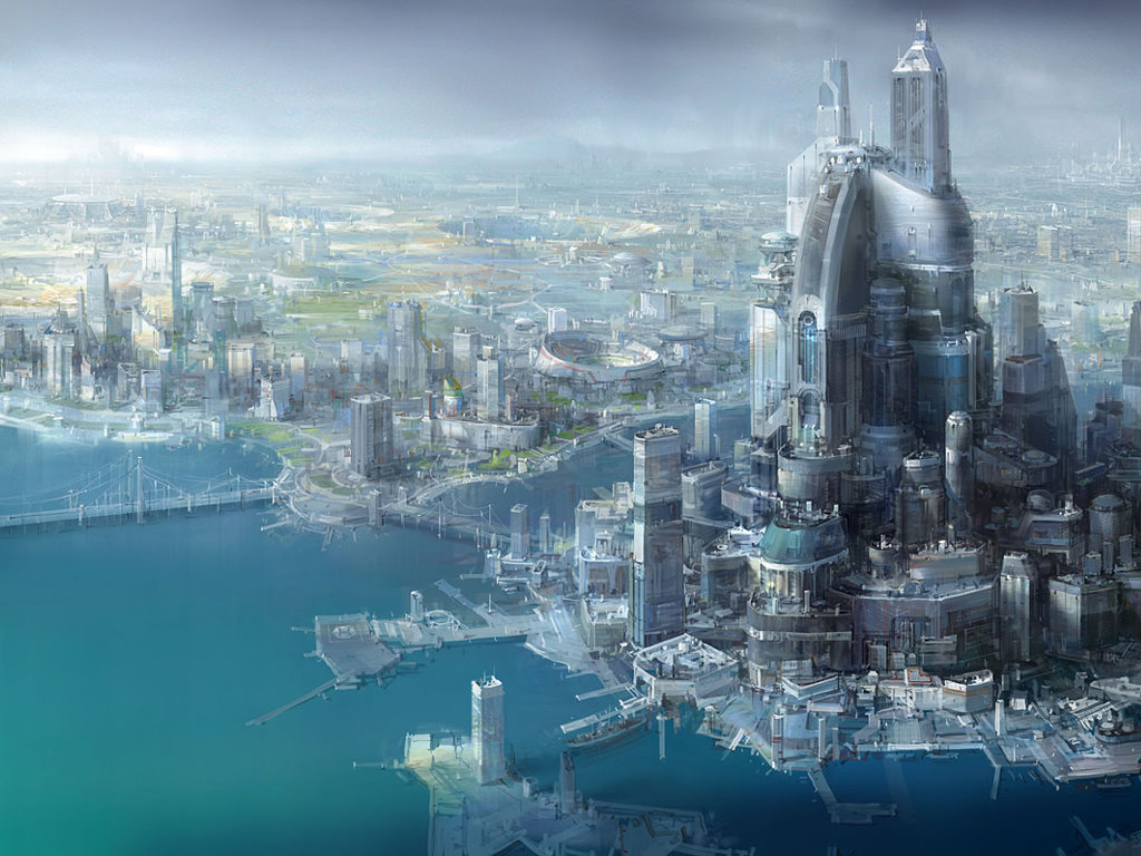 Fantasy Wallpaper: Future Megalopolis
