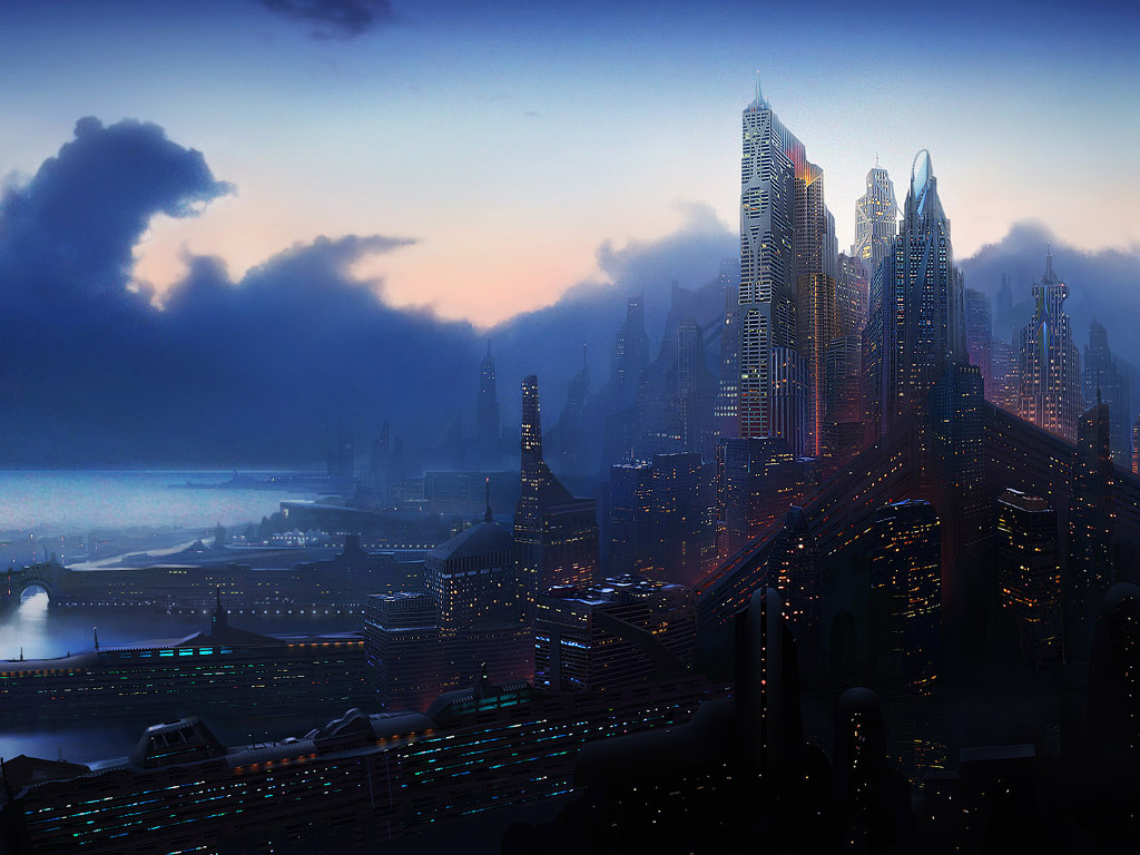 Fantasy Wallpaper: Future Metropolis