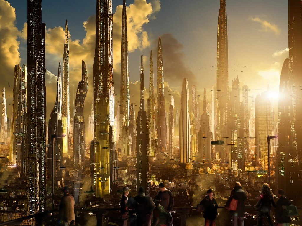 Fantasy Wallpaper: Future Skyscrappers