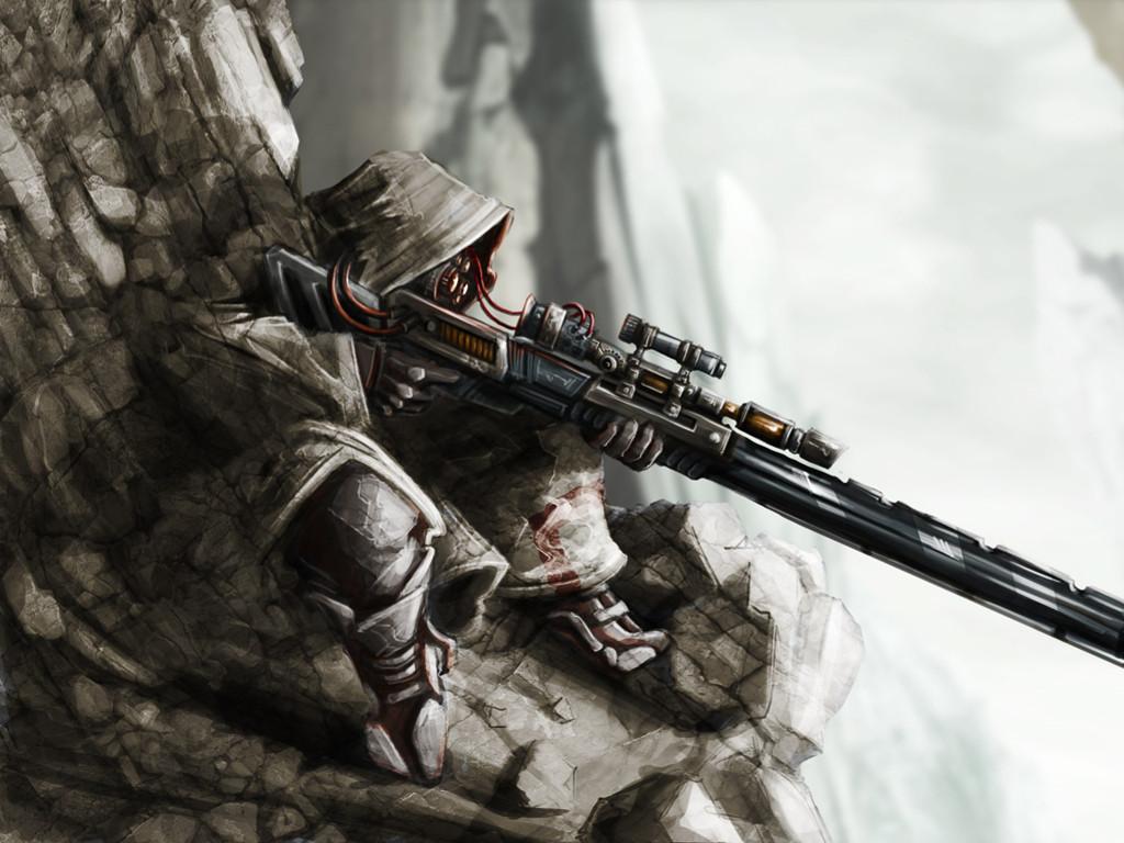 Fantasy Wallpaper: Future Sniper
