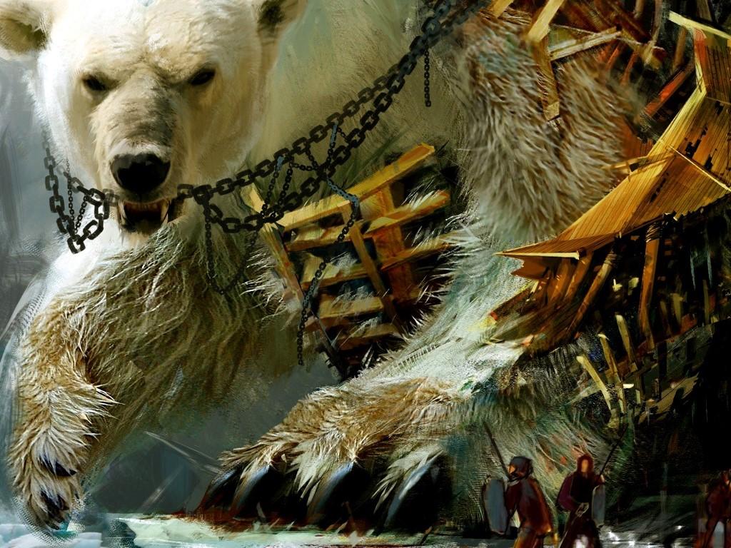 Fantasy Wallpaper: Giant Bear