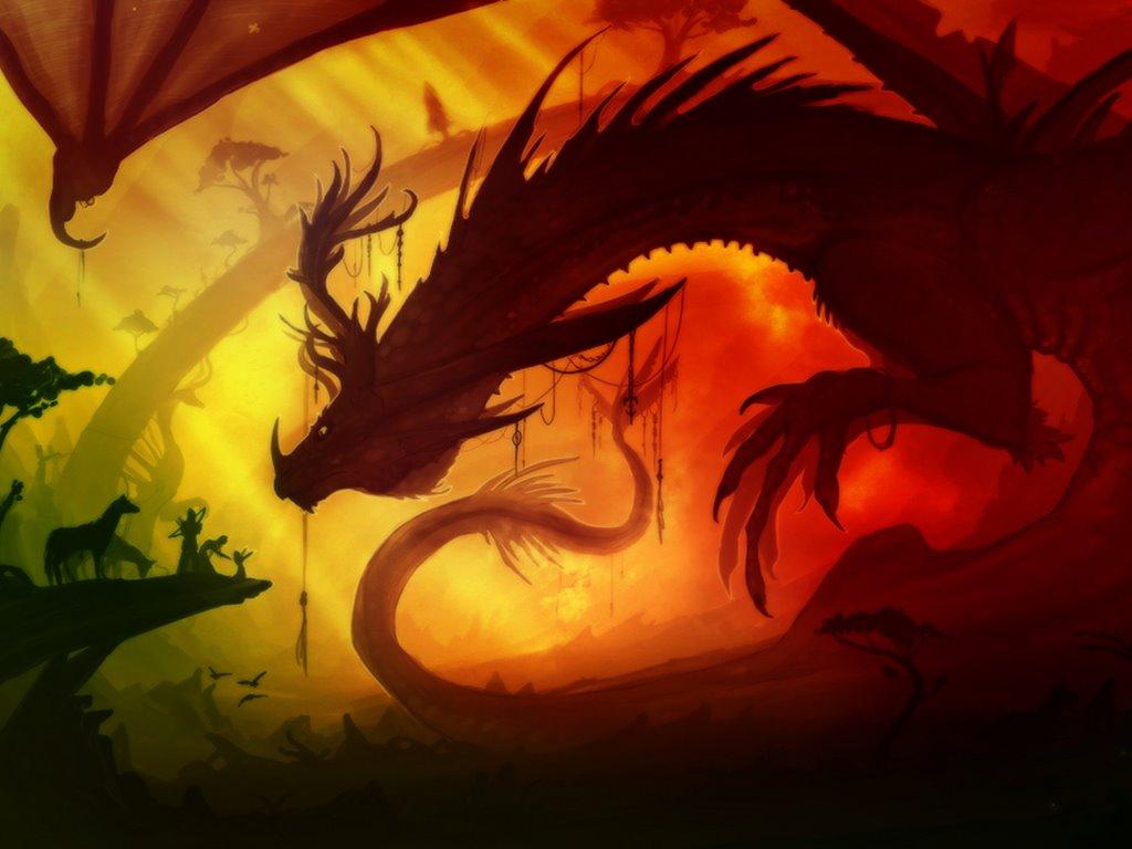 Fantasy Wallpaper: Gigantic Dragon