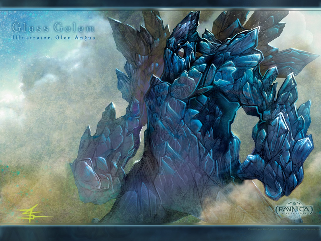 Fantasy Wallpaper: Glass Golem