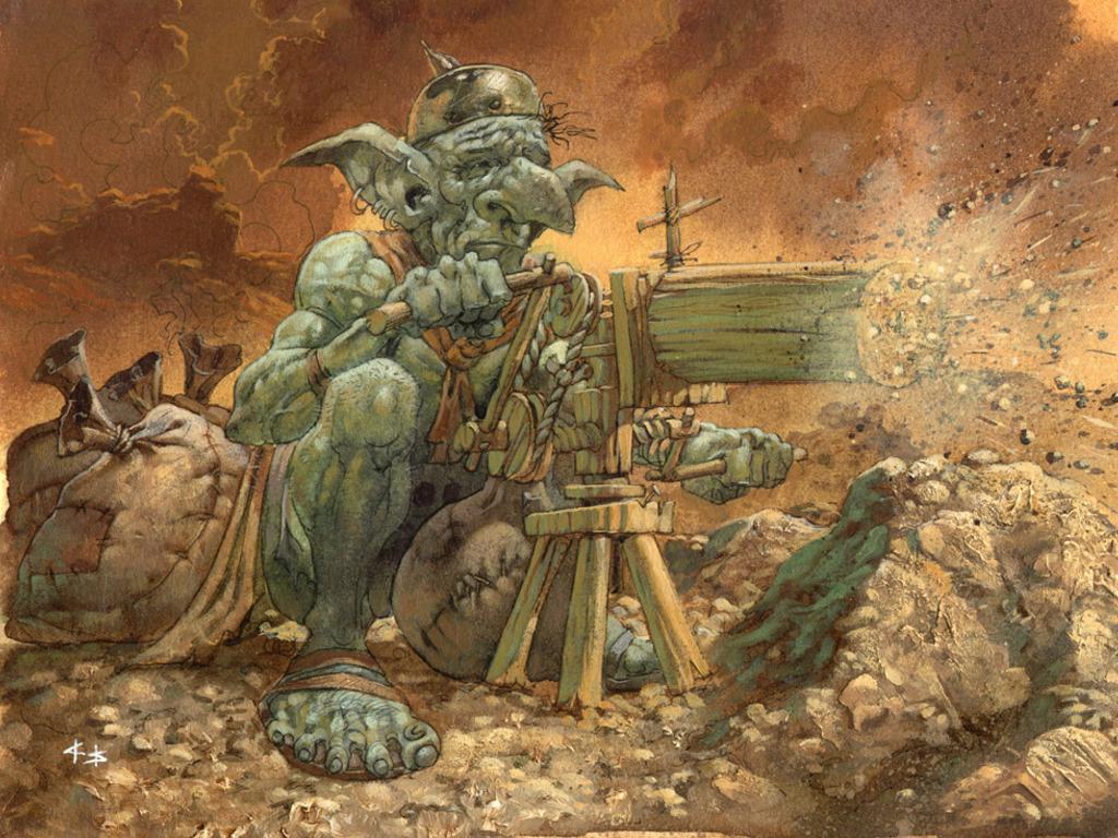 Fantasy Wallpaper: Goblin Sharpshooter