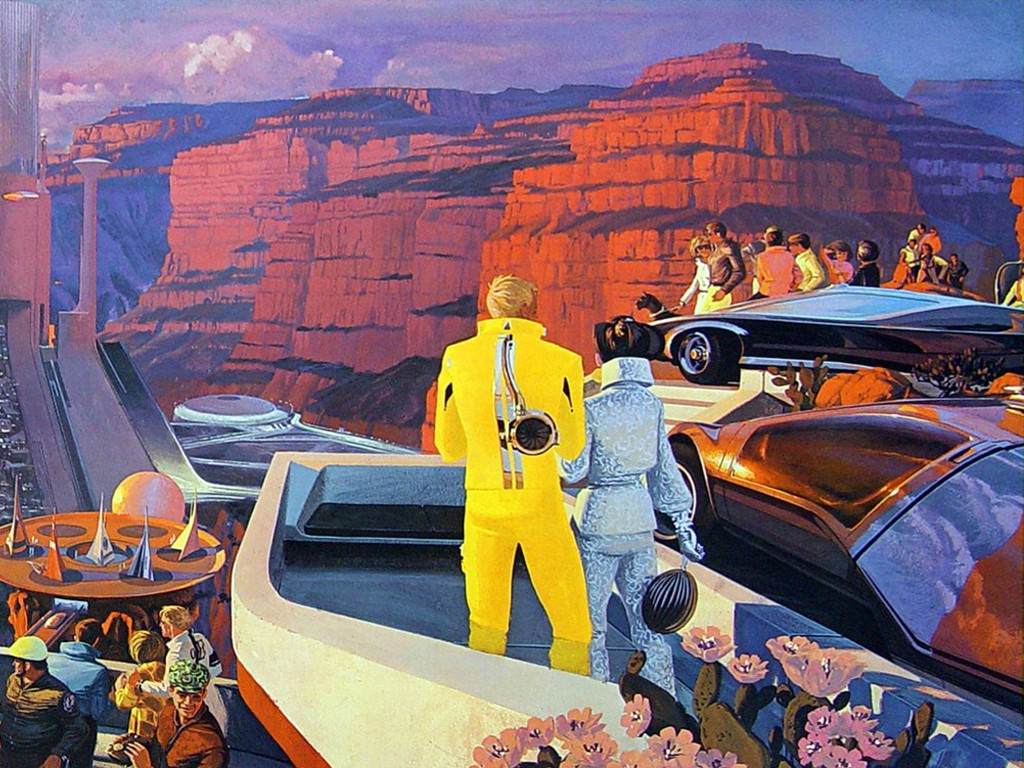 Fantasy Wallpaper: Grand Canyon - Retro Future