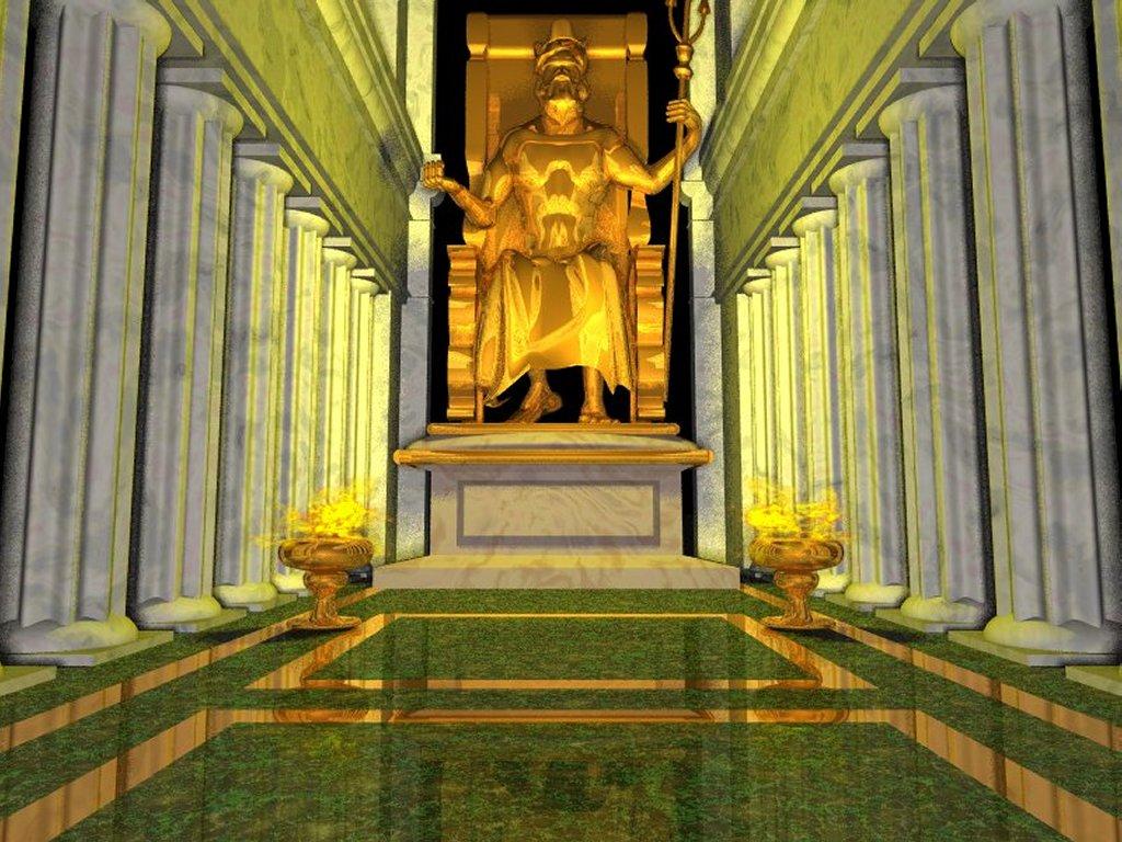 Fantasy Wallpaper: Greek Mythology - Zeus Temple