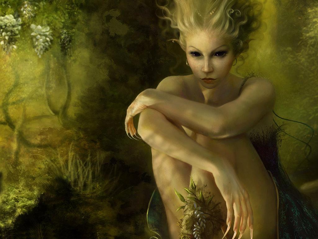 Fantasy Wallpaper: Green Fairy