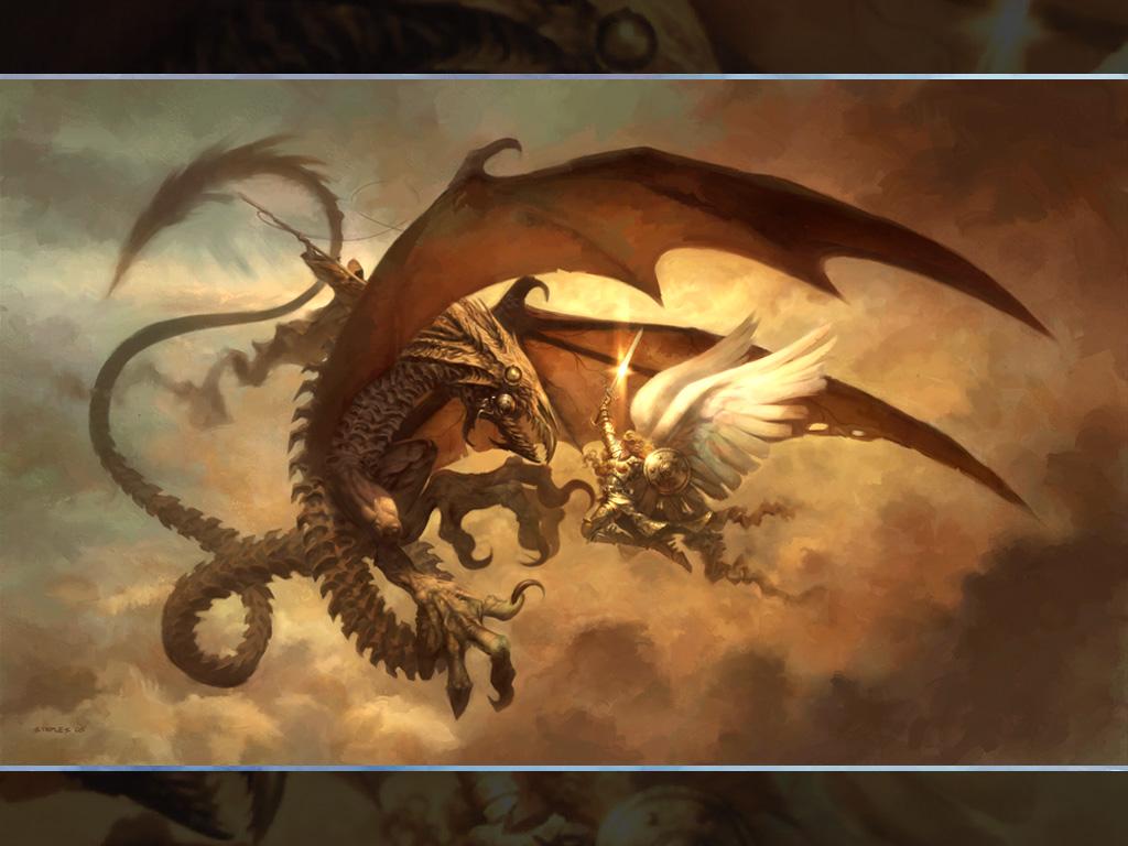 Fantasy Wallpaper: Greg Staples - Serra Specter