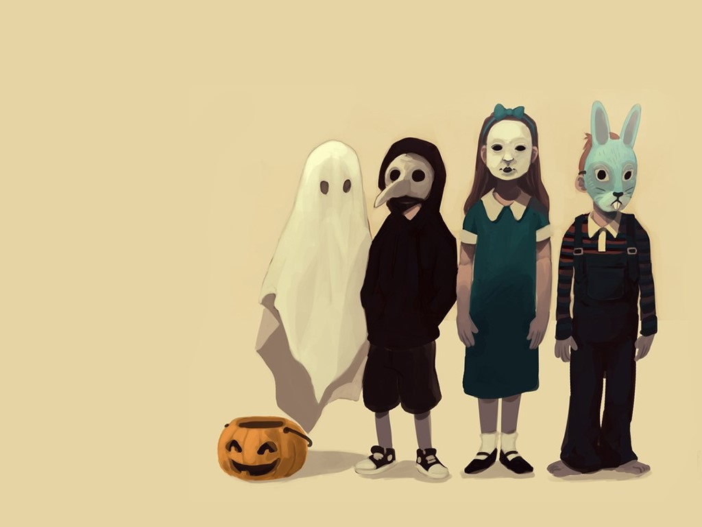 Fantasy Wallpaper: Halloween - Creepy Kids