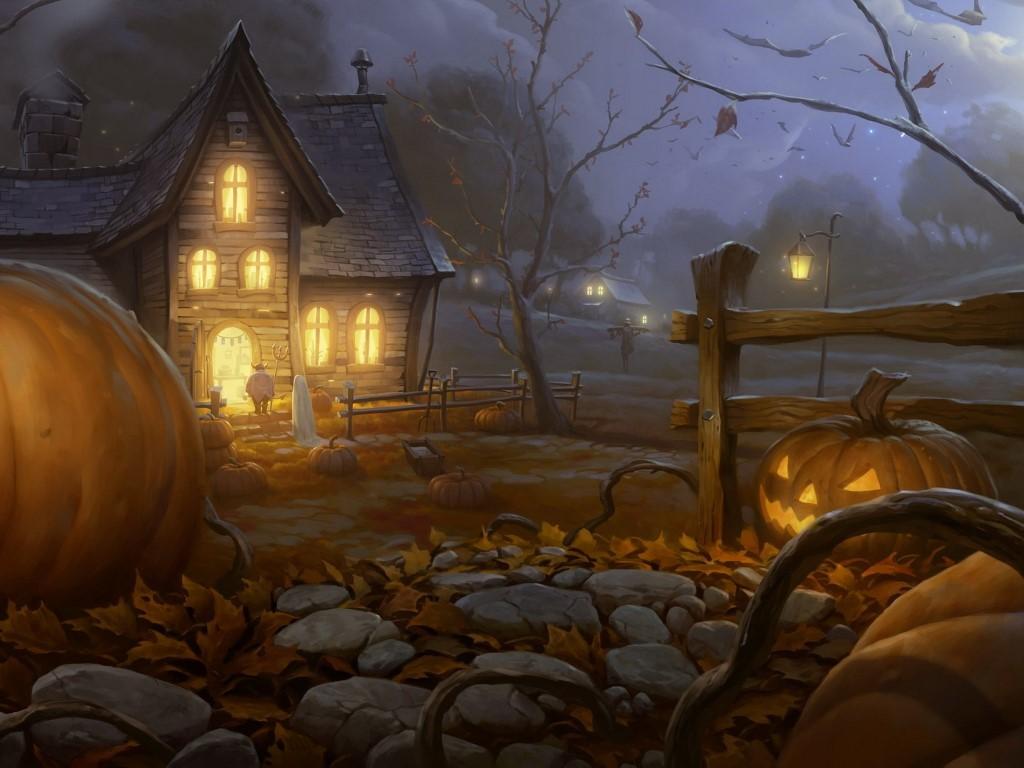 Fantasy Wallpaper: Halloween - Creepy Night