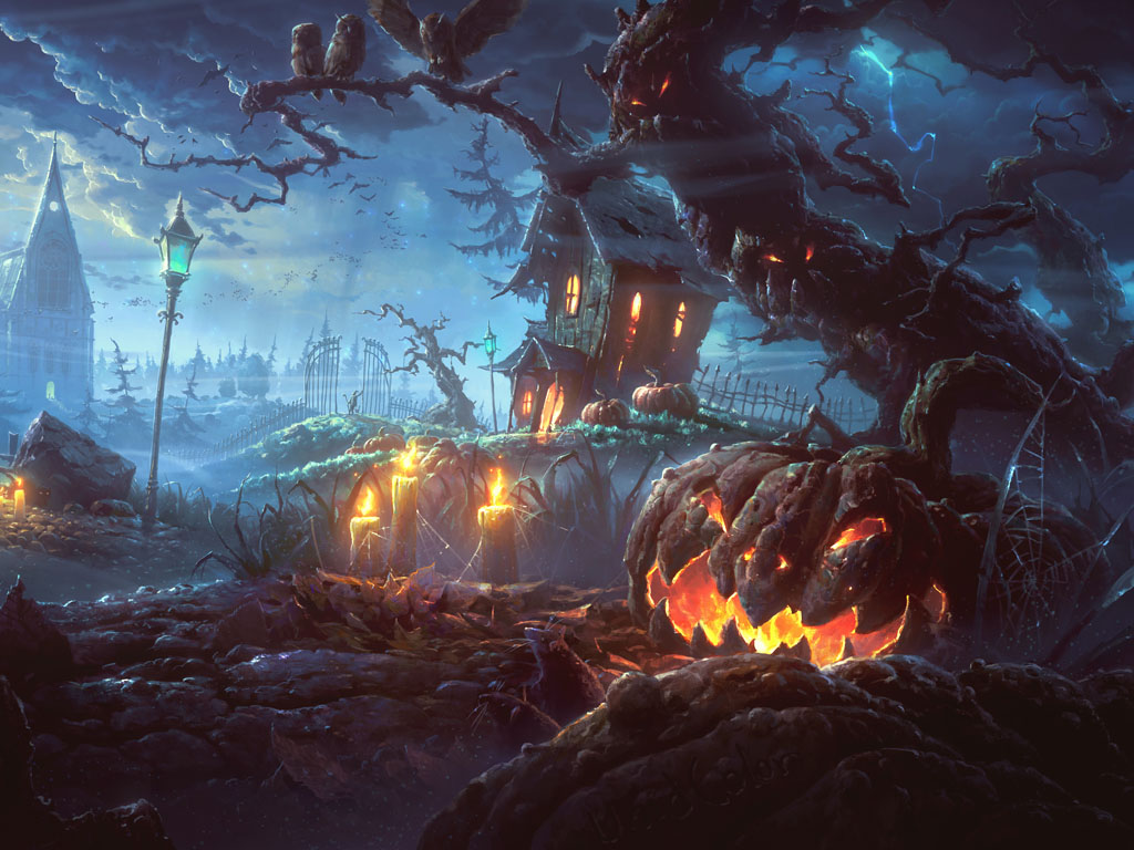 Fantasy Wallpaper: Halloween - Creepy