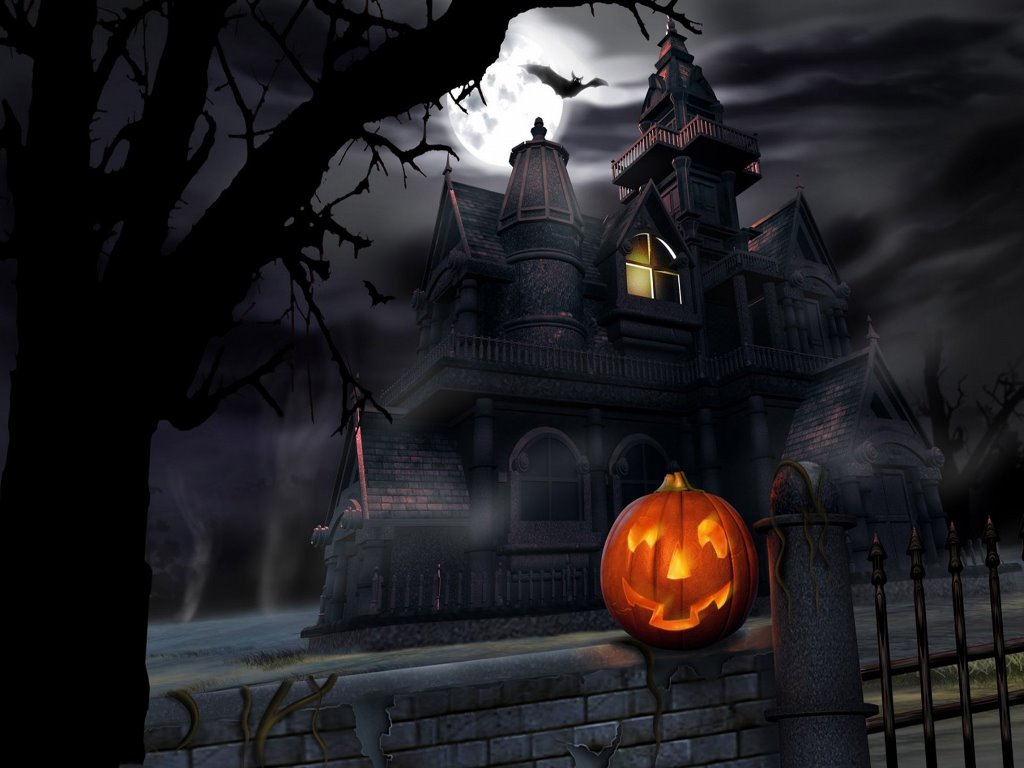 Fantasy Wallpaper: Halloween - Haunted House