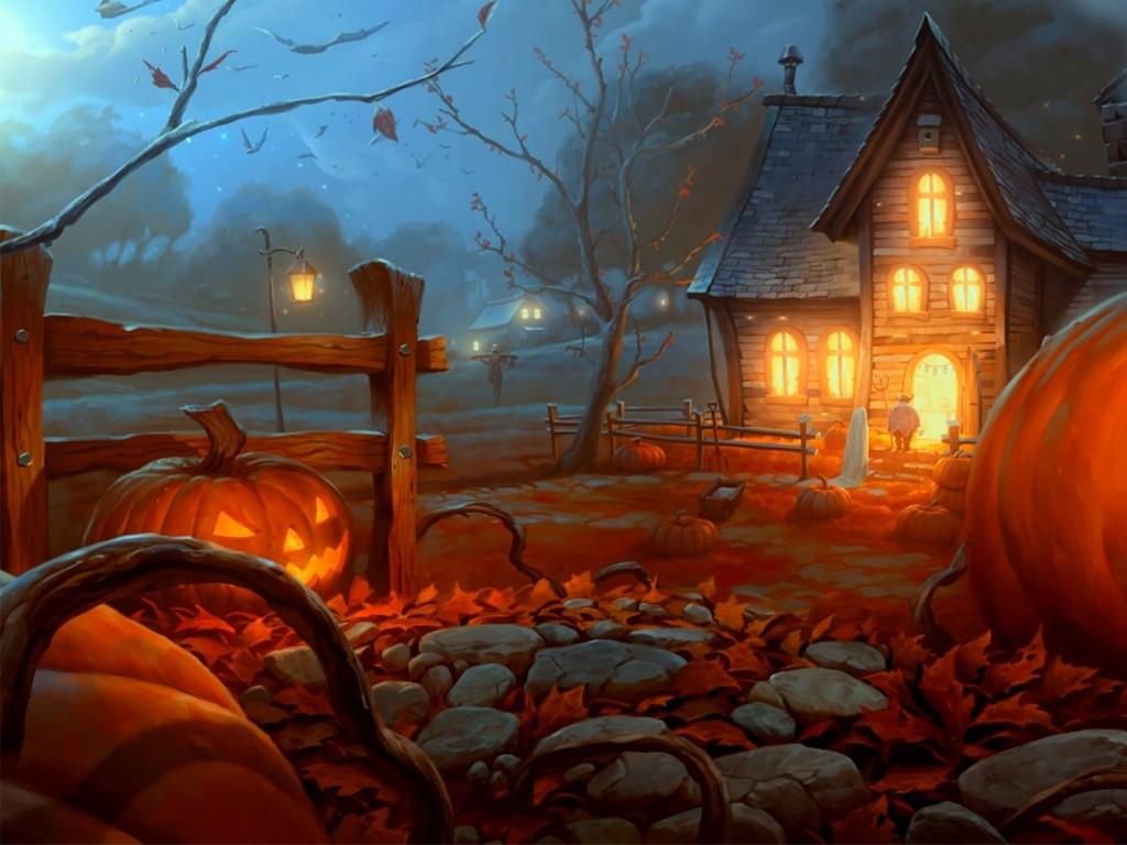 Fantasy Wallpaper: Halloween Night