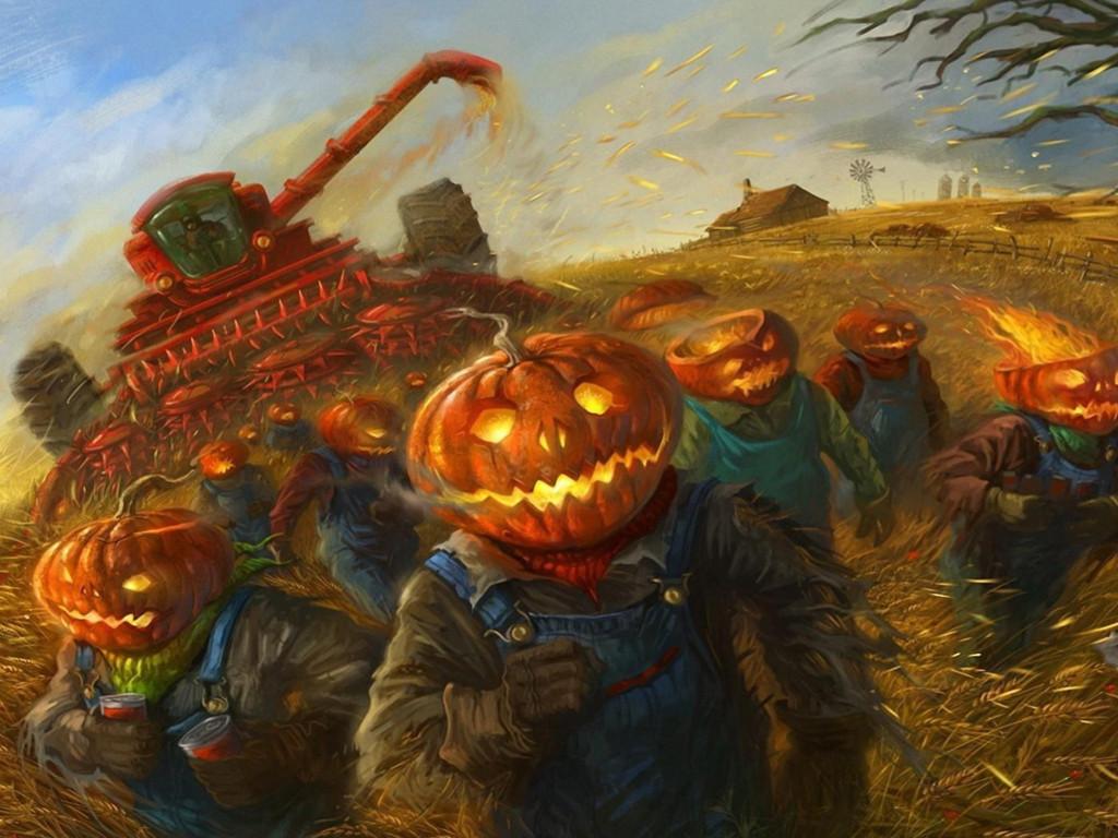 Fantasy Wallpaper: Halloween People - Running