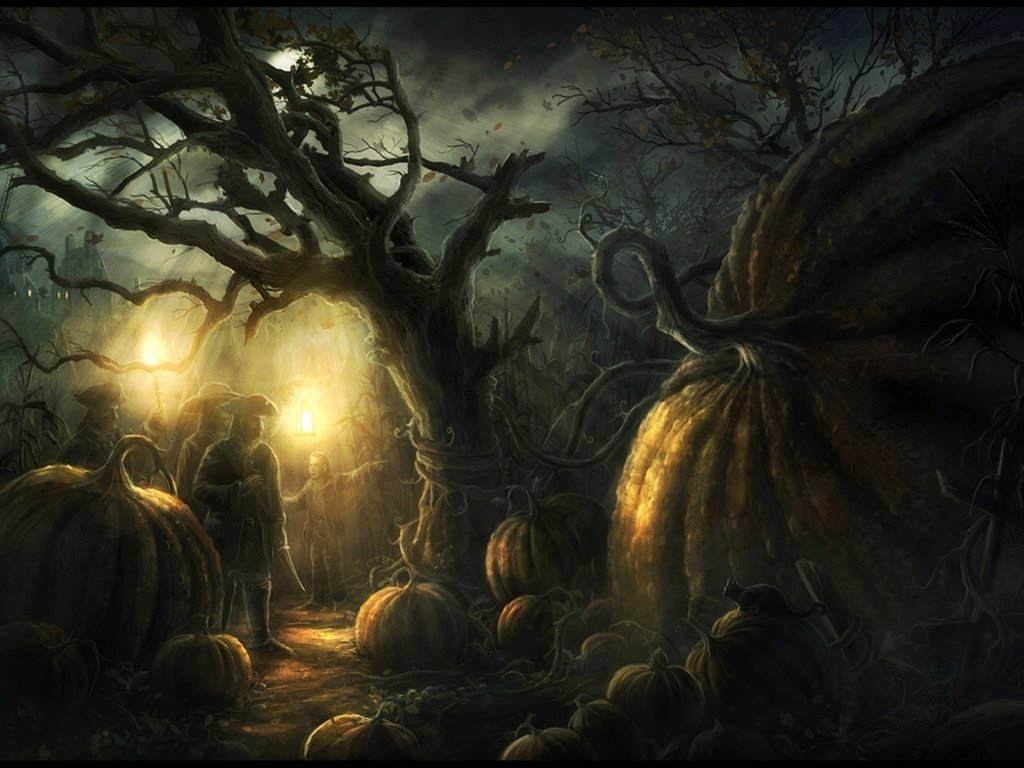 Fantasy Wallpaper: Halloween - Pumpkin Kingdom