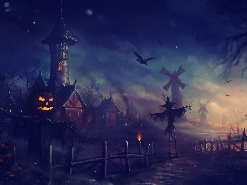 Fantasy Wallpaper: Halloween - Scarecrows