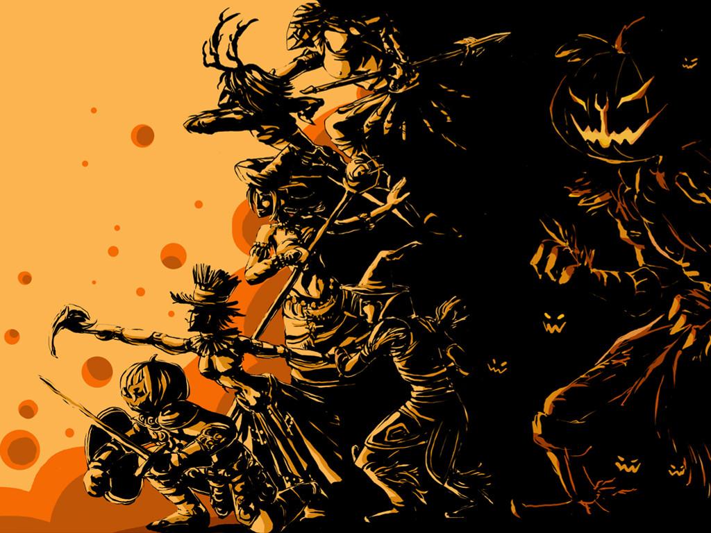 Fantasy Wallpaper: Halloween Warriors