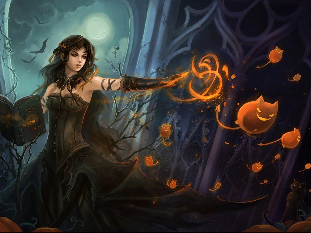 Fantasy Wallpaper: Halloween - Witch