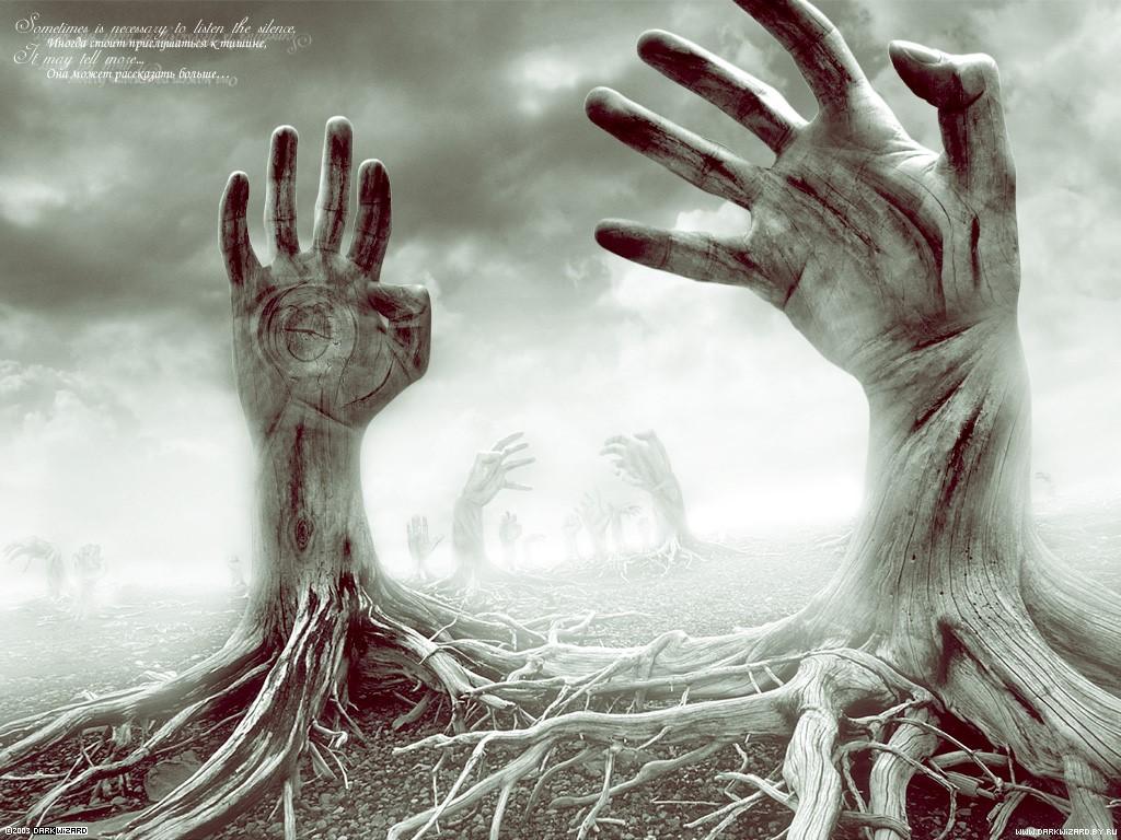 Fantasy Wallpaper: Hand Trees