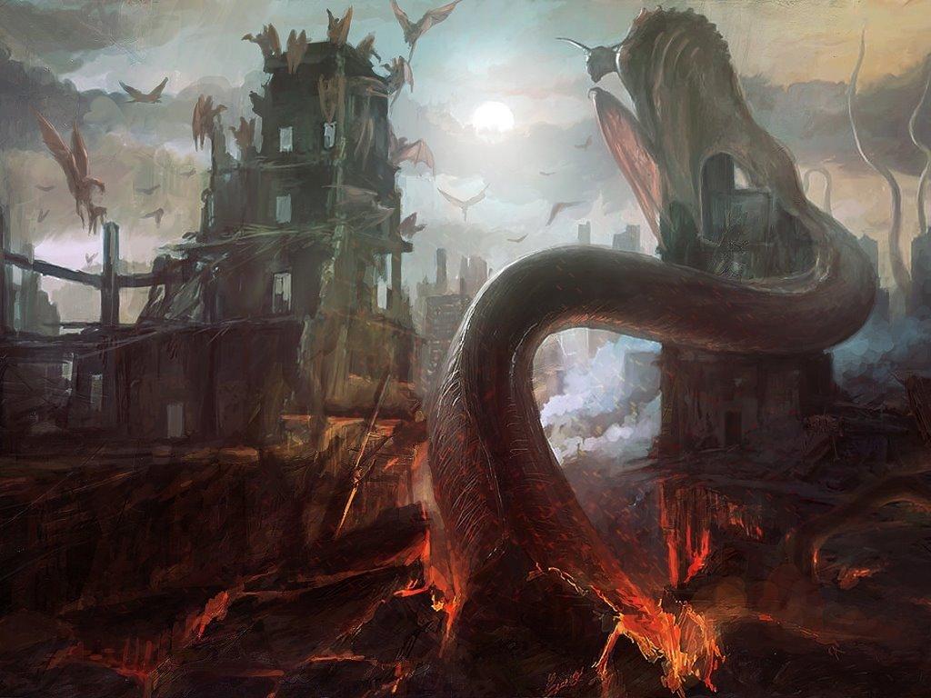 Fantasy Wallpaper: Hell World