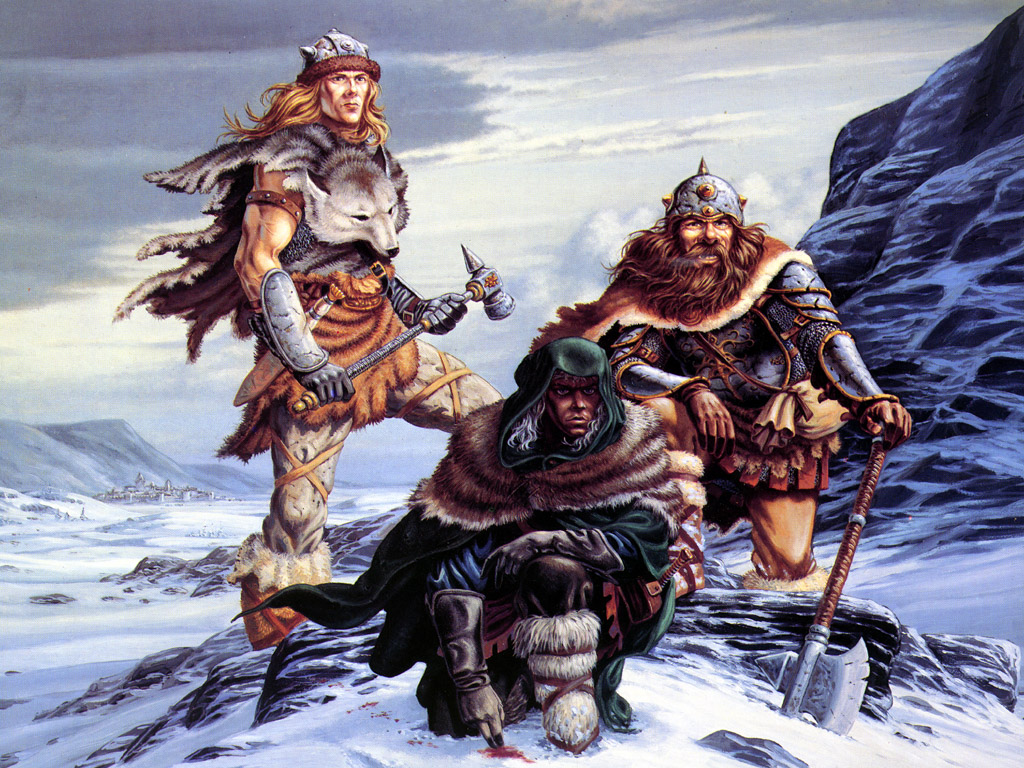 Fantasy Wallpaper: Heroes from Forgotten Realms