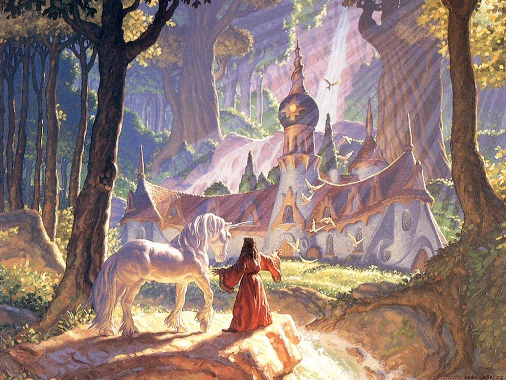 Fantasy Wallpaper: Hildebrandt - The Wizard Glade