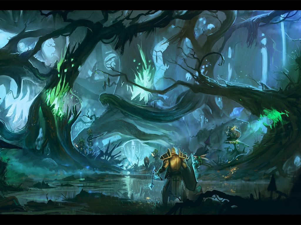 Fantasy Wallpaper: Hostile Biome