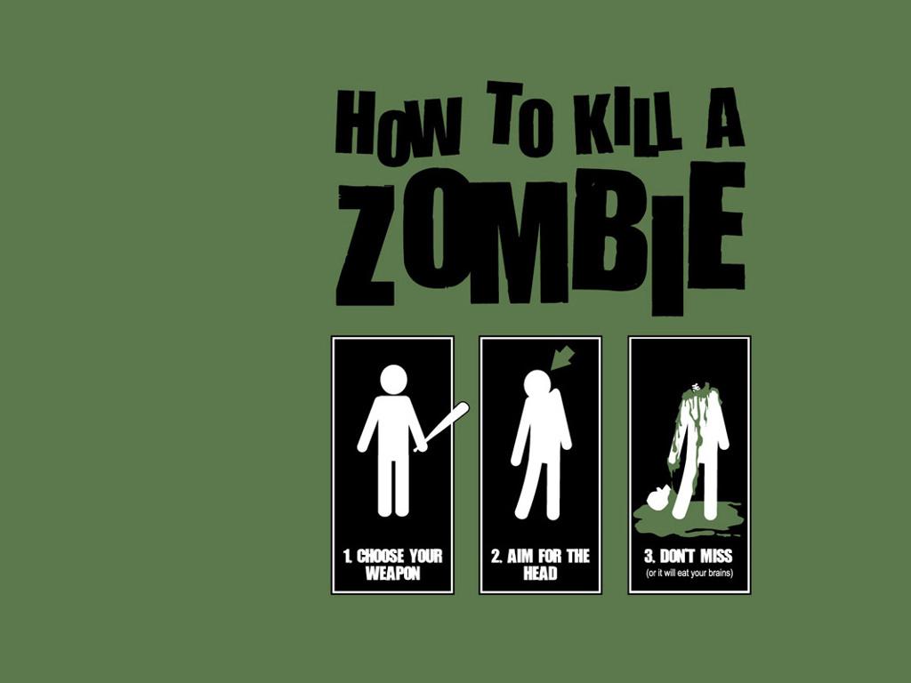 Fantasy Wallpaper: How to Kill a Zombie