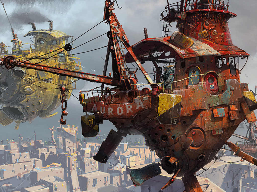 Fantasy Wallpaper: Ian McQue - Aurora