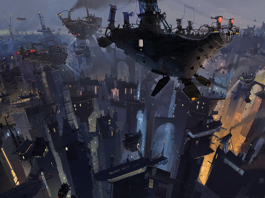 Fantasy Wallpaper: Ian McQue - Gondola World