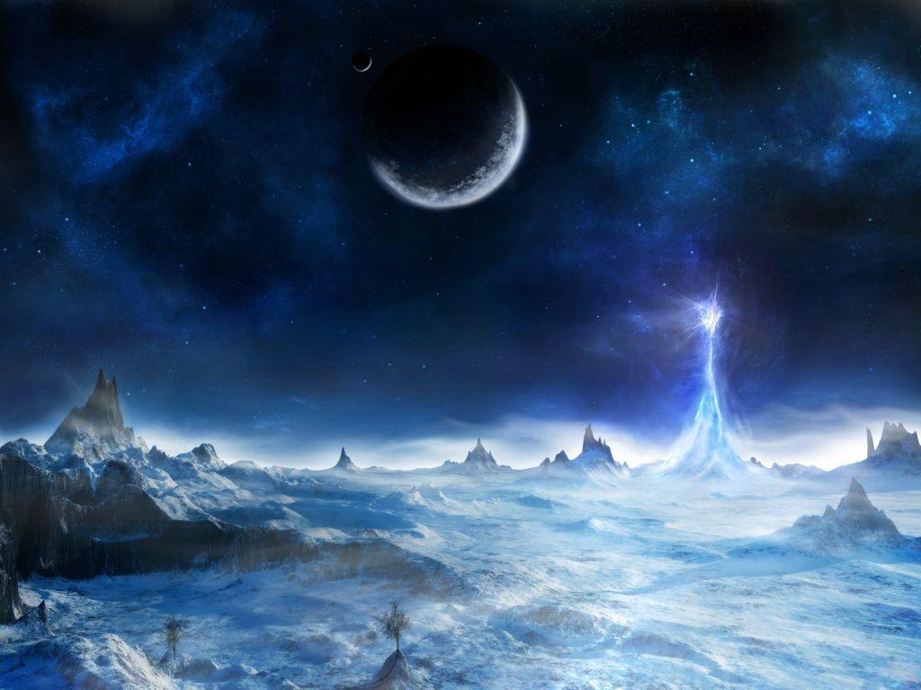 Fantasy Wallpaper: Ice Tower
