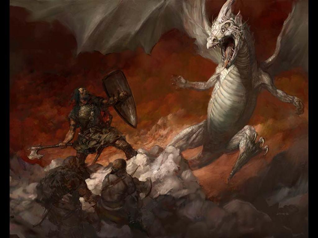 Fantasy Wallpaper: Icewind Dragon