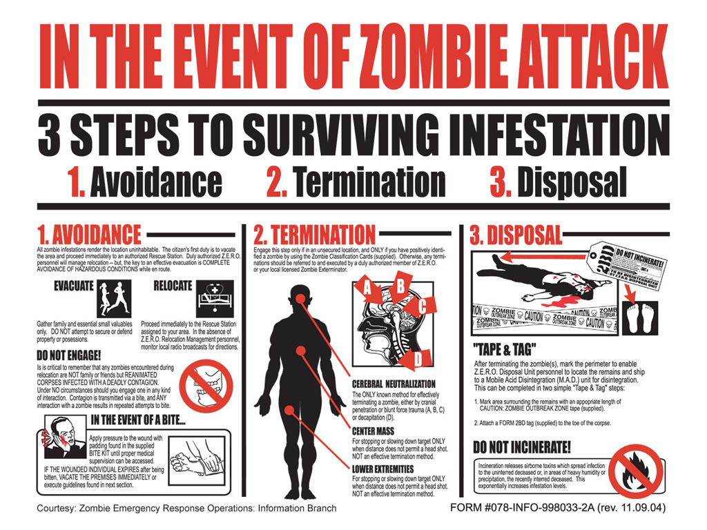 Fantasy Wallpaper: In The Event of a Zombie Attack