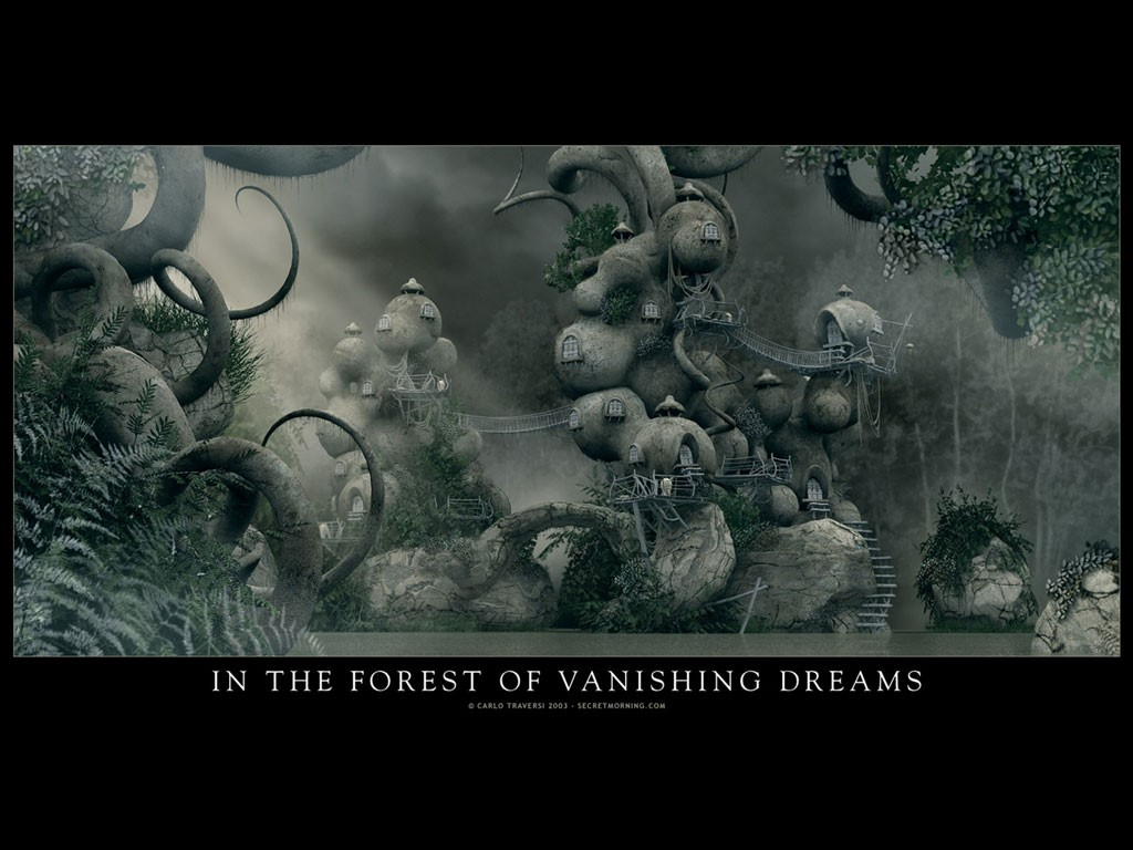 Fantasy Wallpaper: In the Forest of Vanishing Dreams