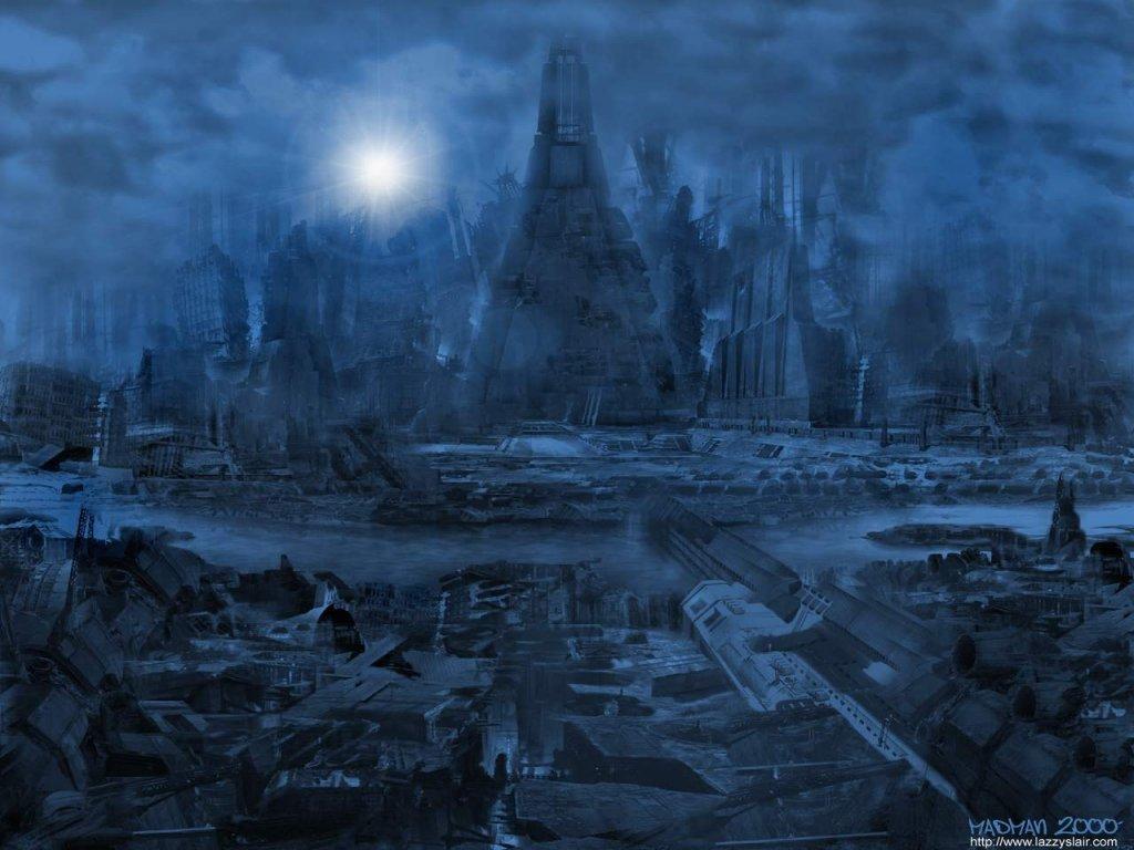Fantasy Wallpaper: Industrial Ruins