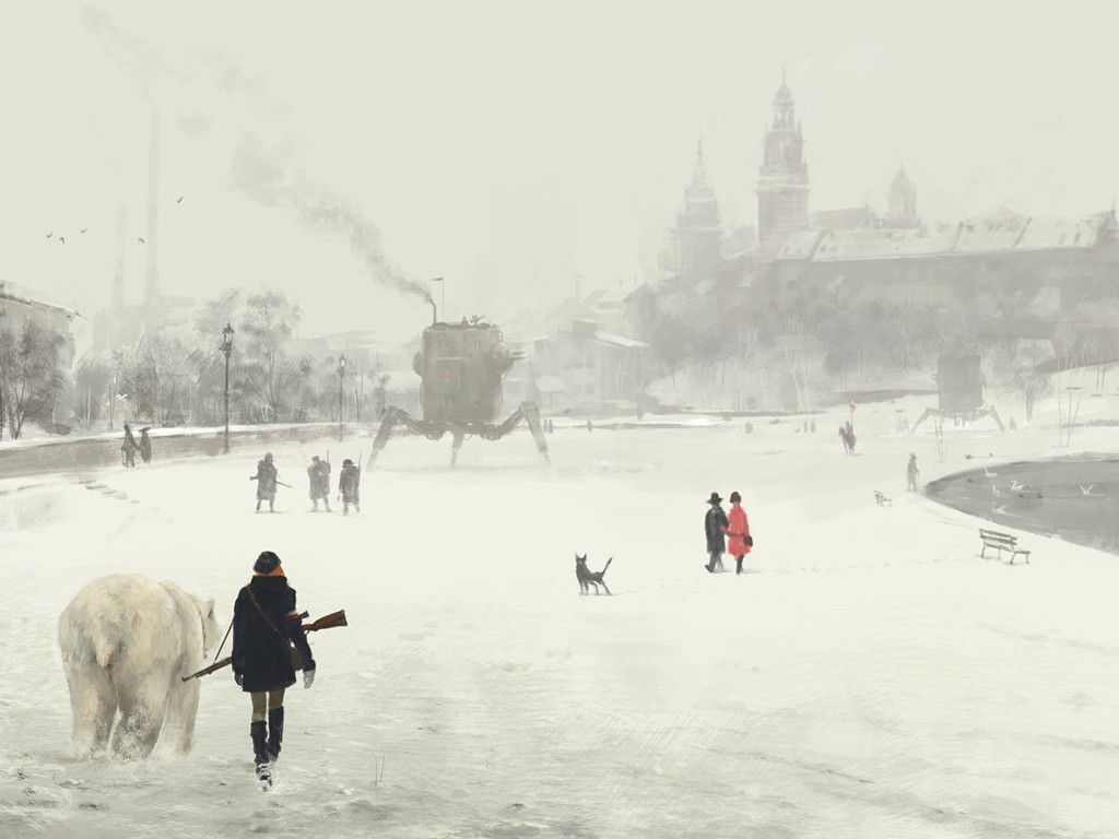 Fantasy Wallpaper: Jakub Rozalski - Krakow